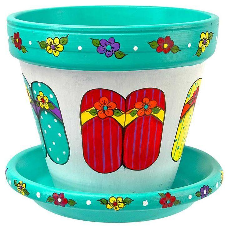 Flip-Flop Flower Pot project from DecoArt