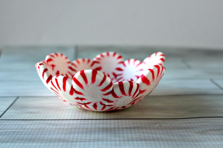 I created these oh so adorable DIY Peppermint Candy Bowls made from, you guessed it, peppermint candy!