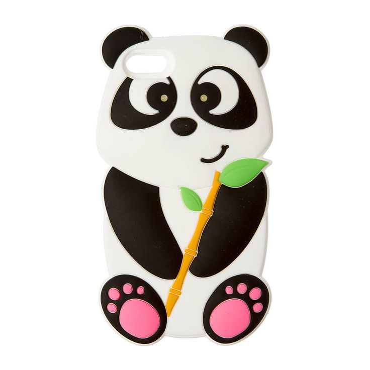 Silicone Light Up Panda with Bamboo Phone Case - iPhone 5/5S | Claire's