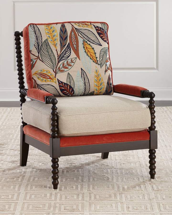 Massoud Autumn Spindle Chair Spindle Chair Comfortable Accent Chairs Comfy Chairs