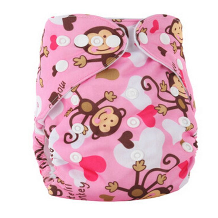 Brand Baby Diaper Cover Bamboo Velour Fitted Diaper Washable Brand Baby Nappy Animal Print Reusable Baby Diapers Cloth