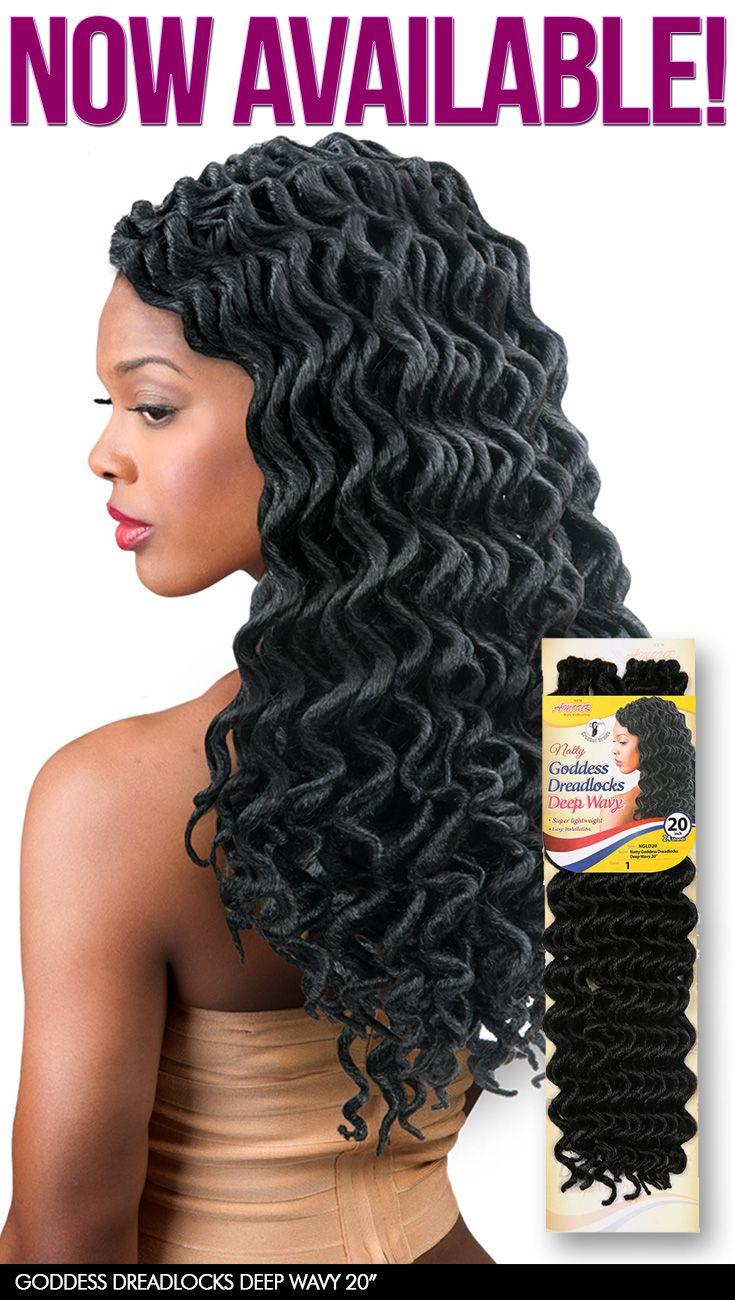Amour Synthetic Kanekalon Crochet Braids Natty Goddess Dreadlocks Deep Wavy by Chade Fashions #crochet #braids #natty #goddess #dreadlocks #wavy Available @ samsbeauty.com