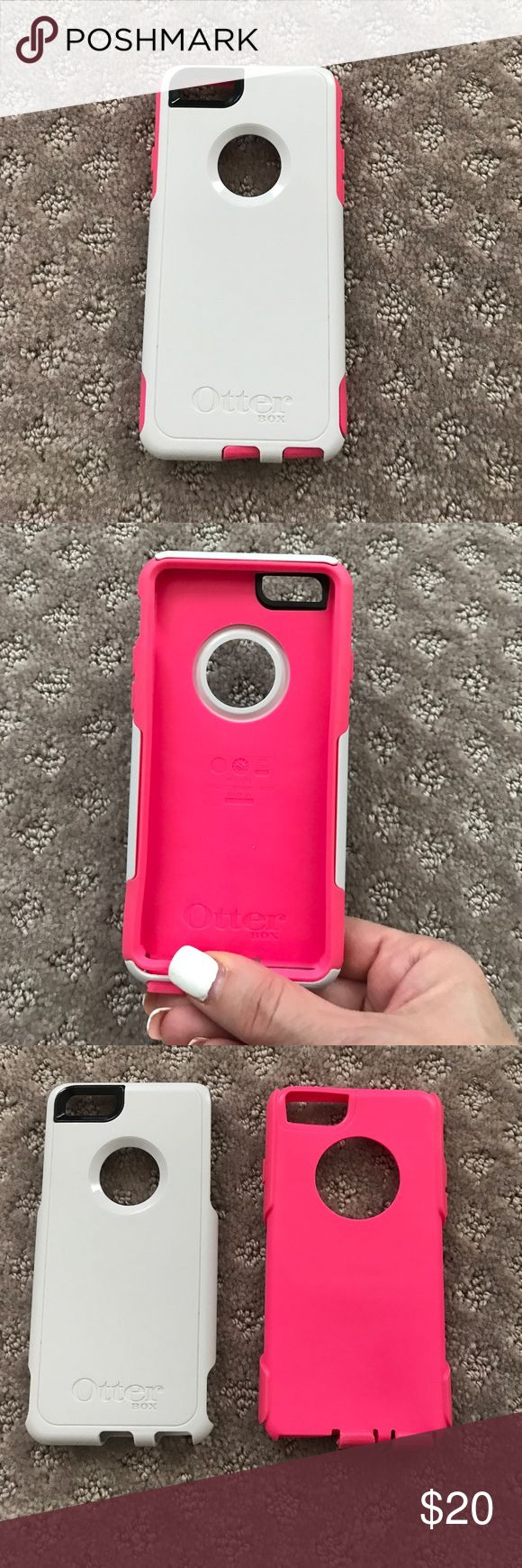 OTTER BOX phone case 6/6's Hot pink/white for i phone 6/6's (thinner otter box) great condition!! OTTER BOX Accessories Phone Cases