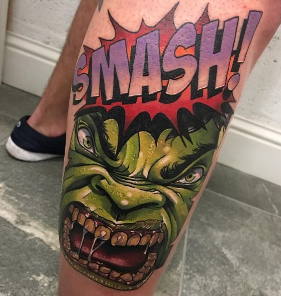 Amazing Hulk Tattoo my son would LOVE when he gets older!!!