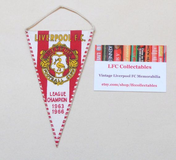 Liverpool FC Mini Pennant 1966 by LFCcollectables on Etsy