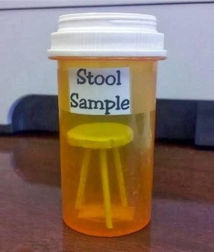 #LMAO - Stool Sample. White elephant gift