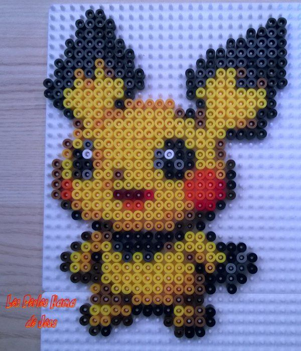 172 Pichu Pokemon hama perler beads by Jessica Bartelet - Les perles Hama de…