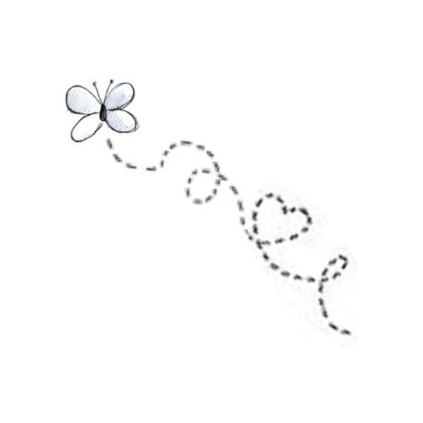 Butterfly doodle made by Amber ♥ found on Polyvore