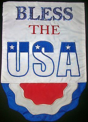 """#Bless the usa #patriotic 12.5"""" x 18"""" garden  #applique flag,  View more on the LINK: http://www.zeppy.io/product/gb/2/350837300197/"""
