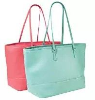 Classic Carry All Totebag in Coral