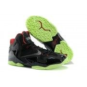 Cheap Nike Lebron 11 Black Red Green $107.90  http://www.blackonshoes.com/