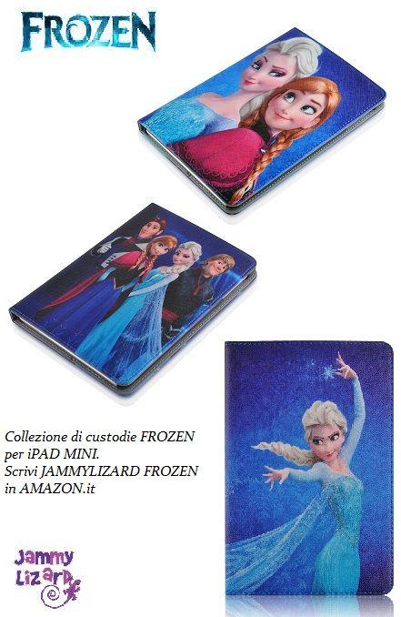 #Custodie #Frozen #Disney #accessories per iPad Mini solo JAMMYLIZARD http://www.amazon.it/s/ref=nb_sb_noss?__mk_it_IT=%C3%85M%C3%85%C5%BD%C3%95%C3%91&url=search-alias%3Delectronics&field-keywords=jammylizard+collezione+frozen&rh=n%3A412609031%2Ck%3Ajammylizard+collezione+frozen