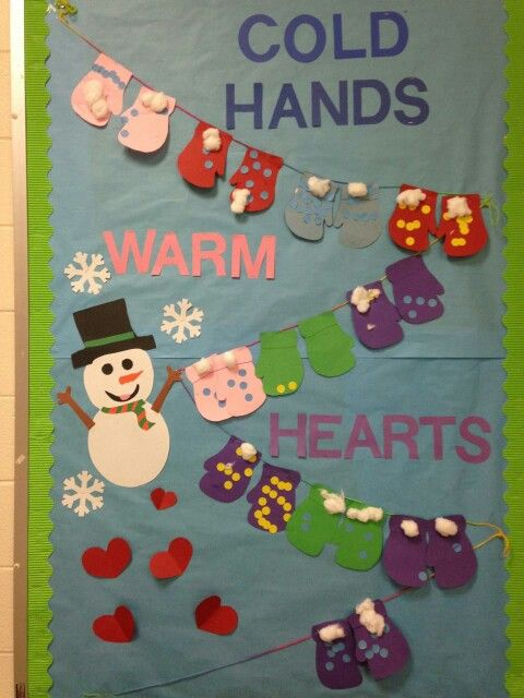 Cold Hands Warm Hearts Bulletin Board In Room Mommy