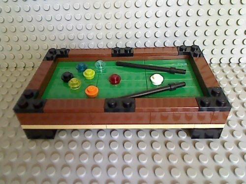 Lego Pool Table Green 8 Ball Billiards City Stick Town Sports Bar Tournament $ | eBay