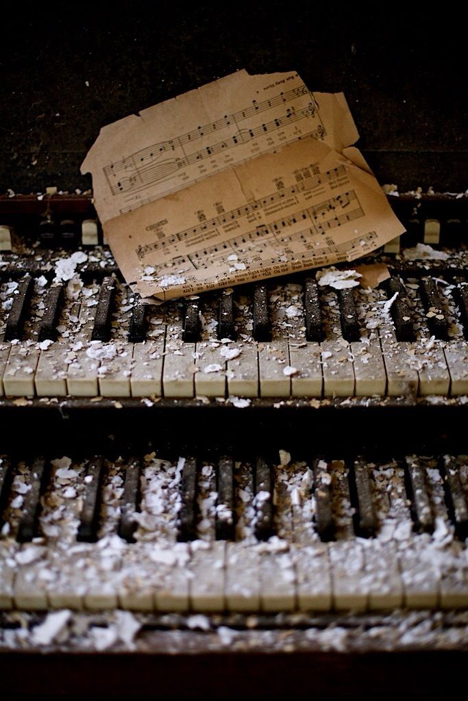 The physicality of music can be lost, but the melodies are forever in our memories.  #piano #music