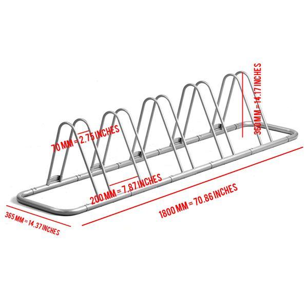 5 Bike Bicycle Floor Parking Rack Storage Stand 610696765420 | eBay