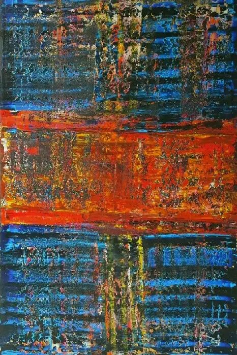 Drift 40x60x1.5in Bali collection #1 by Robert Martin abstracts