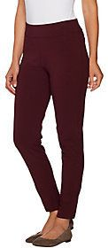 As Is Susan Graver Regular Premium Stretch Slim Leg Pull- On Pants