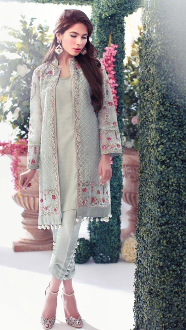 Beautiful Pakistani dress. Custom made available at Royal Threads Boutique. WhatsApp: +919646916105