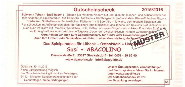 Susi Abacolino Lübeck Gutschein