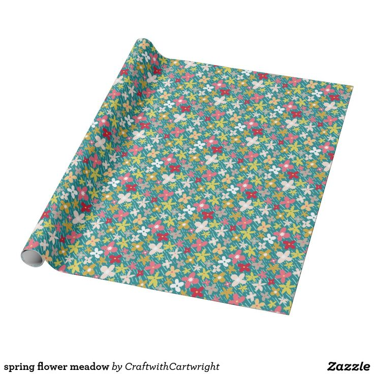 spring flower meadow wrapping paper £11.10