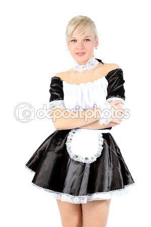 Женщина в наряд Французская горничная — Стоковое фото © konstantin32 #4678997