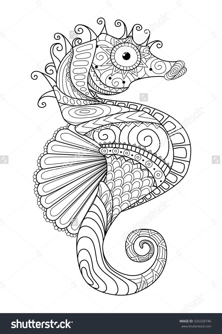 book, adult, page, line, sea, element, tattoo, summer, scroll, design, fish, pattern, isolated, wallpaper, stylized, decoration, aquatic, shirt, horse, coloring, tropical, tribal, ornament, decorations., organic, vector, t, for, graphic, black, other, hippocampus, abstract, and, modern, doodle, illustration, decorative, retro, collection, indian, blue, sketch, zentangle, seahorse, marine, drawning, art, effect, artistic, vintage, drawn, water, nature, logo, hand, animal, ocean
