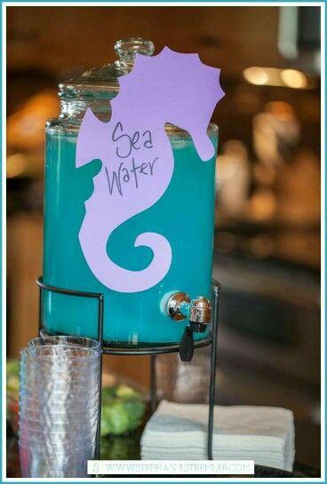 1st birthday / Baby mermaid purple blue sea water