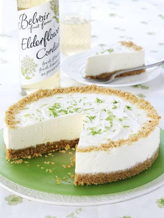 Elderflower And Lime Cheesecake...