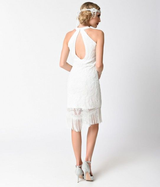 17 best ideas about white flapper dress on