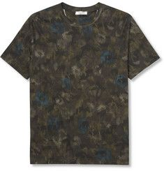 ValentinoFlower and Camouflage-Print Cotton-Jersey T-Shirt