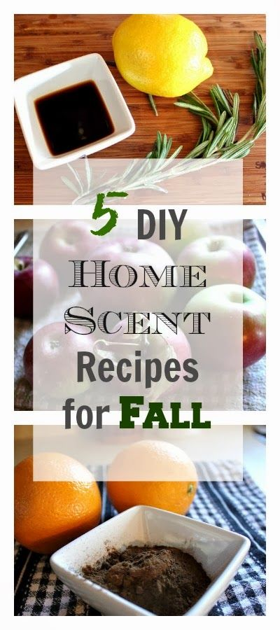 5 all natural recipes for making your home smell delicious this Fall!!!!