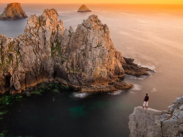 Brittany, France ~Take a look at the rugged cliffs of Pointe de Pen-Hir that encase a number of walking paths, cove beaches, megalithic sites and lookout points ~