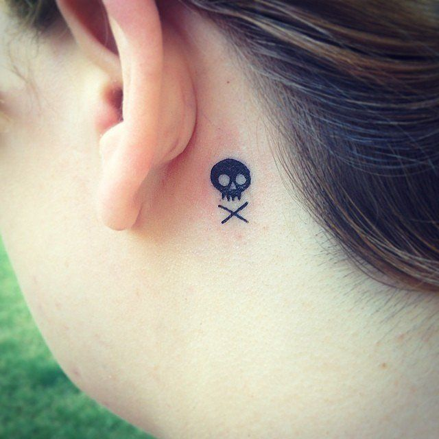 Sinister Skull | 44 Real-Girl Tiny Tattoo Ideas For Your First Ink | POPSUGAR Beauty