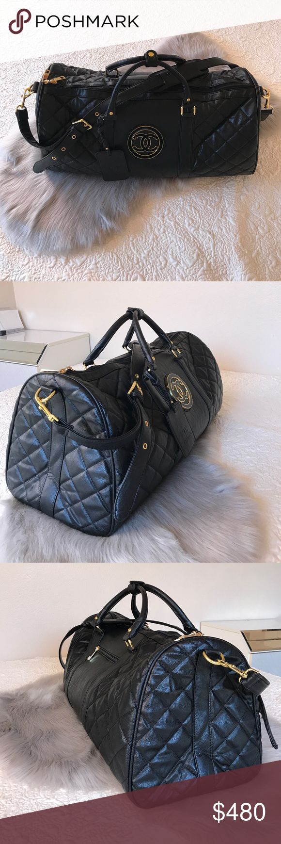 Chanel Vintage Duffle Bag (Size 60) Chanel Vintage Duffle Bag (Size 60)  -Very Rare Vintage Bag -Size 60 (Largest Carry On bag you can bring in the plane!)  -Still in Great Condition!  -Ship from Los Angeles, CA.  -Ship same or next business day! - No pricing discussions on comments below, ONLY submit offer.   Tags: Supreme Box Logo Shirt Hoodie Bape Chanel Louis Vuitton Vintage Tee Palace LV wallet Card Wallet Style Accessories Gucci Snake Belt Travel Passport Common Projects Goyard Duffle…