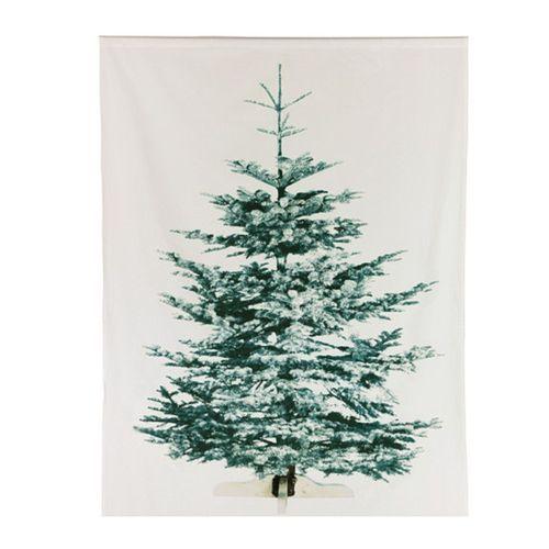 IKEA Christmas Tree Fabric Decorative Panel Xmas Wall Hanging 7 ft Tall Glows | eBay