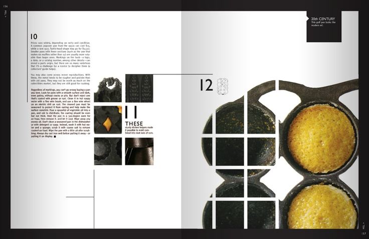 #EditorialDesign The use of overlapping on this layout design allows the page to have more detail and style.