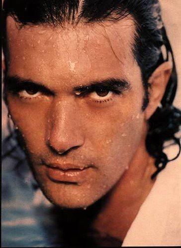 [Antonio Banderas]  ... That's an 'I dare you' look if you ever saw one ... caliente, mi amigas - mucho mucho