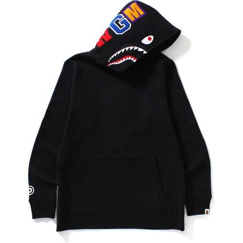 Bape Side Zip Shark Hoodie (Black)