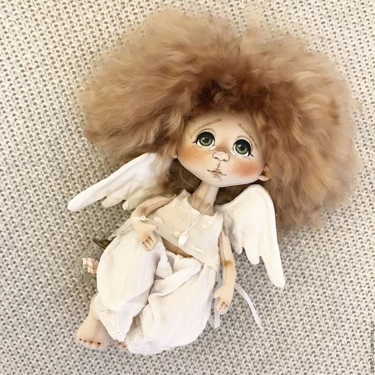 Купить Ангелошка (авторская работа) - белый, кукла ручной работы, кукла, куколка, кукла интерьерная