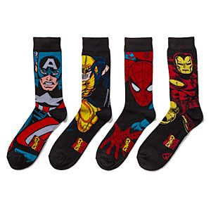 Slip your feet into these super crew socks. They come in a two-pack: one sock is more flashy and the other is more work-appropriate. They're a cozy and soft poly/nylon/spandex blend and will go perfectly with that new crime-fighting uniform you're sewing.