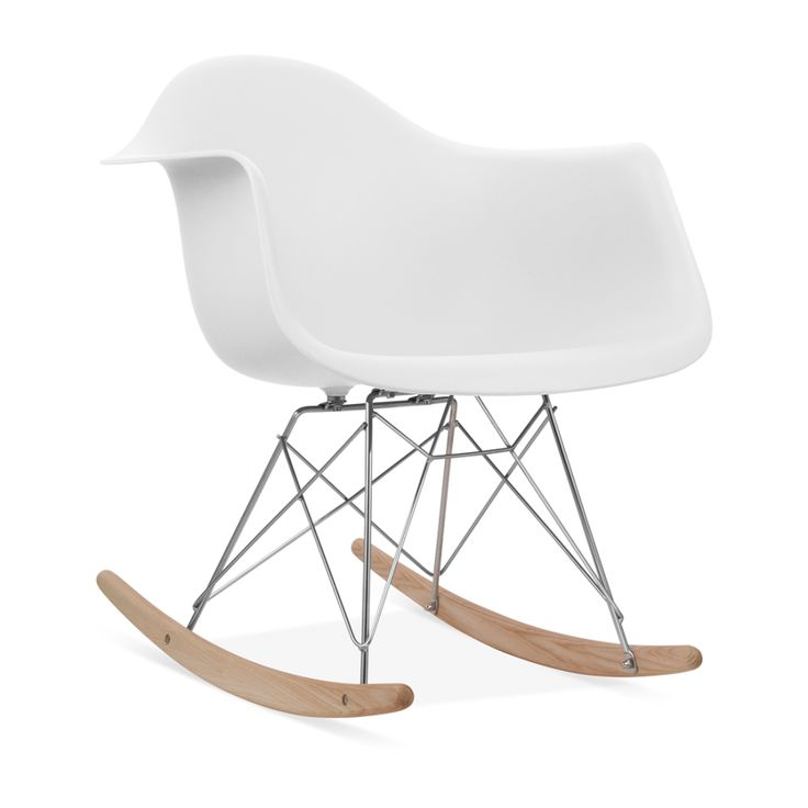 Flair Chaise à bascule RAR Rocking chair création de 1948 -Blanc Cassé