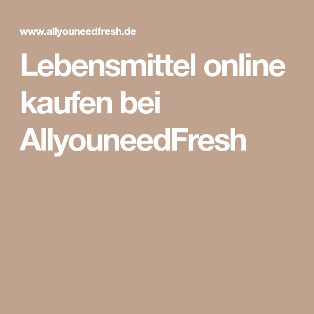 Lebensmittel online kaufen bei AllyouneedFresh