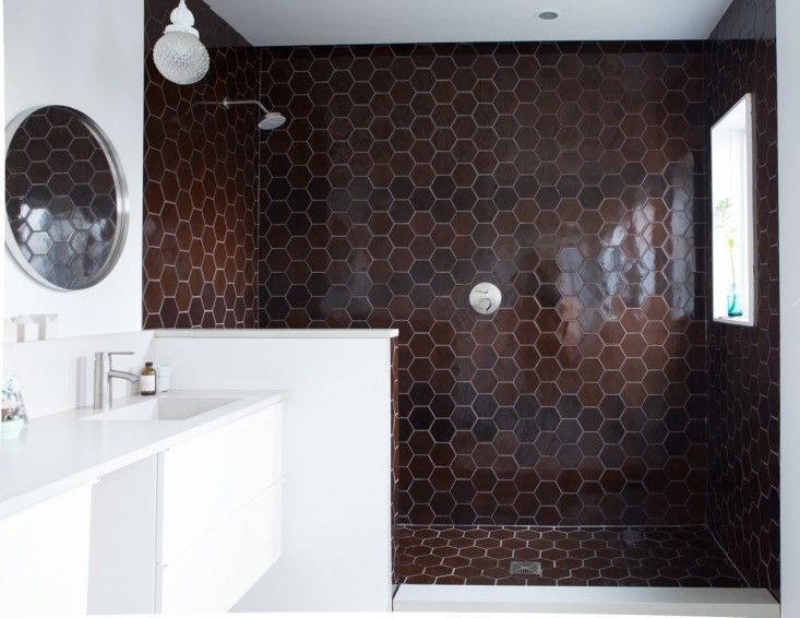 Same Color Palette I Used In My Own Bathroom   Love These Oversized Hex  Tiles From Heath. Medium Plenty, Ian Read House, Master Bath With Heath  Ceramics ...