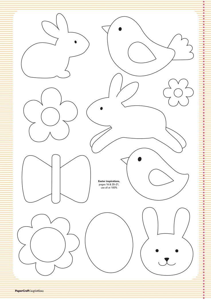 Бесплатные шаблоны из вашего вопроса ... апреля |  Papercraft Вдохновение Пасхальные клипарт идеи: