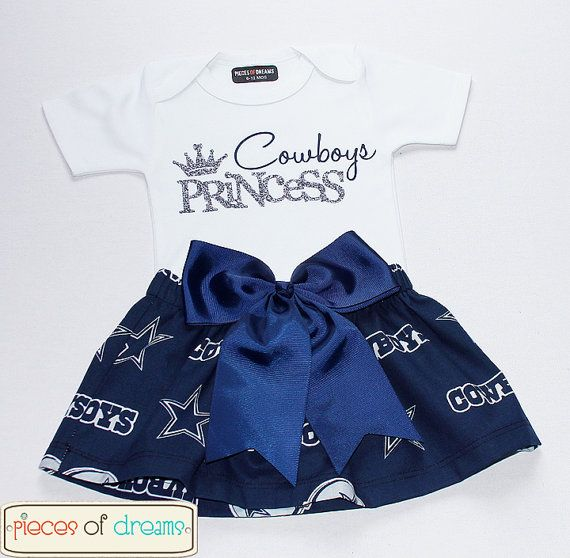 Dallas Cowboys NFL Toddler Girl Outfit Shabby by PiecesOfDreams