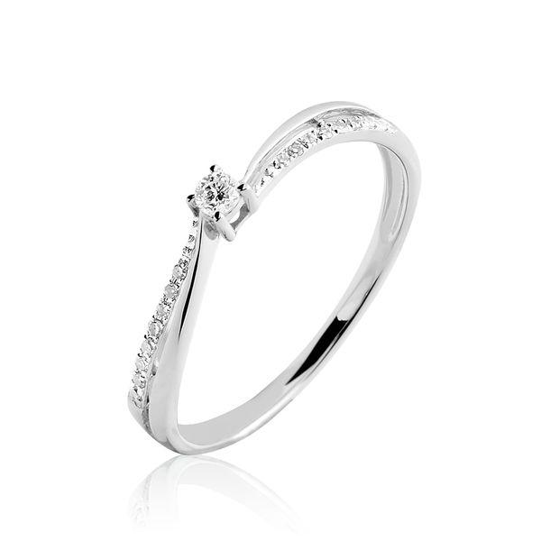 Admirable Solitaire Or Blanc Diamant - B3DFBDW04FH - Histoire d'Or en 2020 OE-38