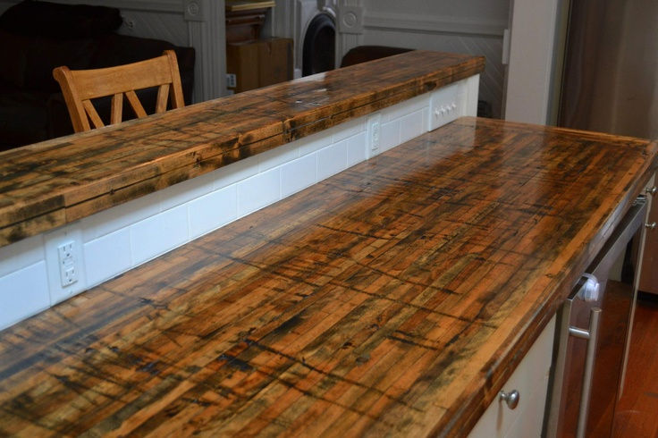 Beautiful New Countertops Made From The Floors Of Railroad