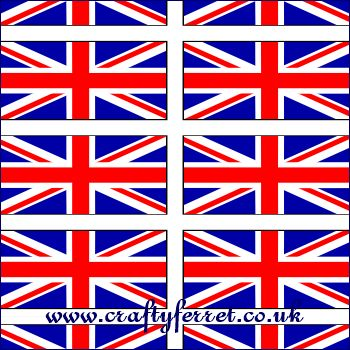 Free Printable Red White Amp Blue Union Jack Flags Craft