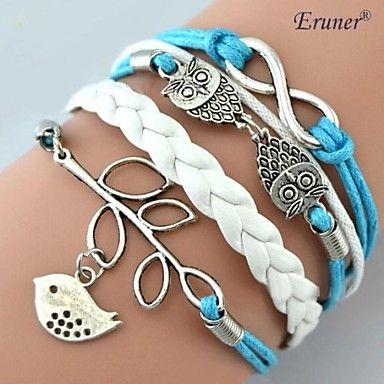 Dagelijks/Causaal - Wrap Bracelets/Lederen armbanden ( Leder/Legering , Kussenhoezen/Wit ) – EUR € 1.48